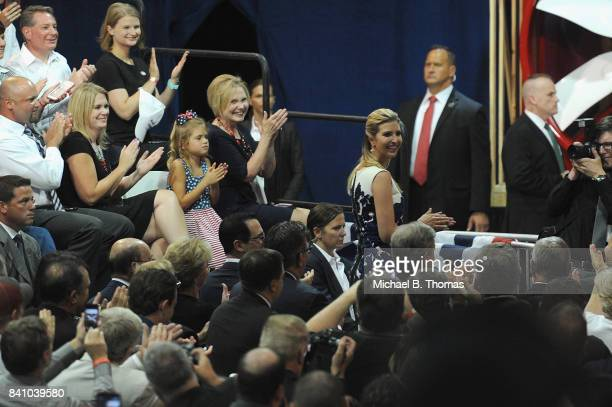 Senior White House Advisor to the President Ivanka Trump is recognized during an appearance at the Loren Cook Company on August 30 2017 in...