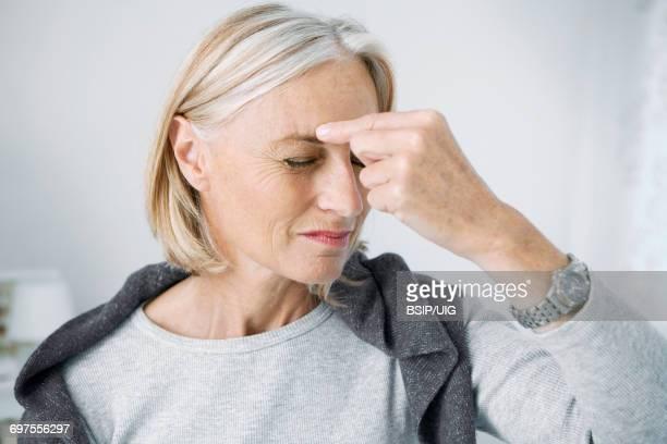 Senior with sinusitis