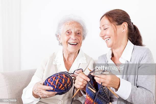 Senior woman and caregiver