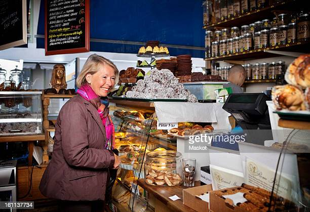 Senior woman at coffee shop