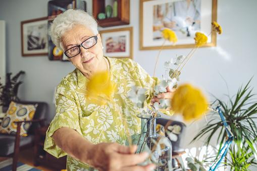Senior woman at home 1145458440