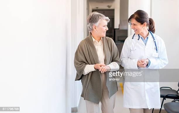 Senior woman at the hospital