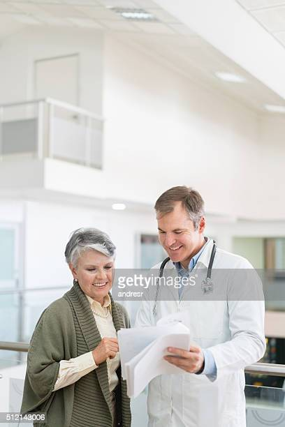 Senior woman at the hospital