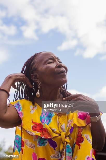 Senior Woman basking in the sun