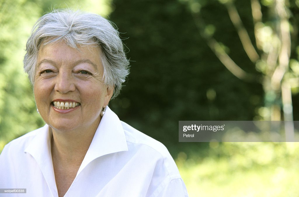 Senior woman, close up, portrait : Stock Photo