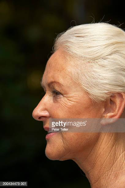 Senior woman, close up, profile