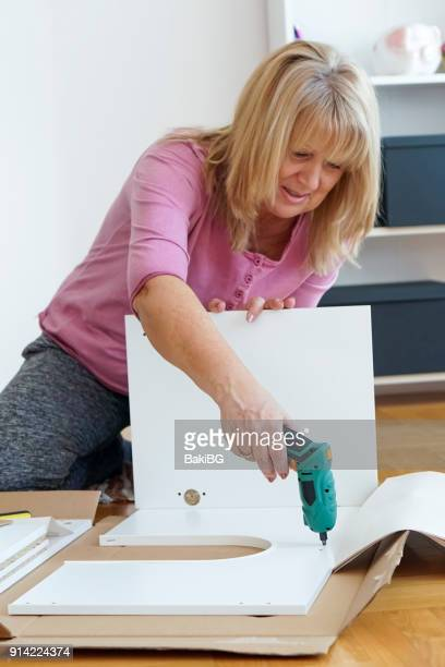 Senior woman DIY