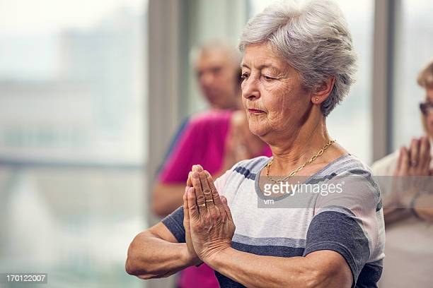 Senior woman Doing Pilates Exercises