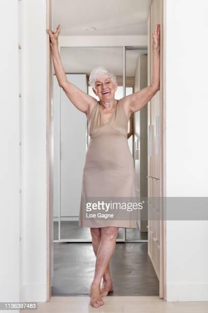 Senior woman enjoying every moment of her life