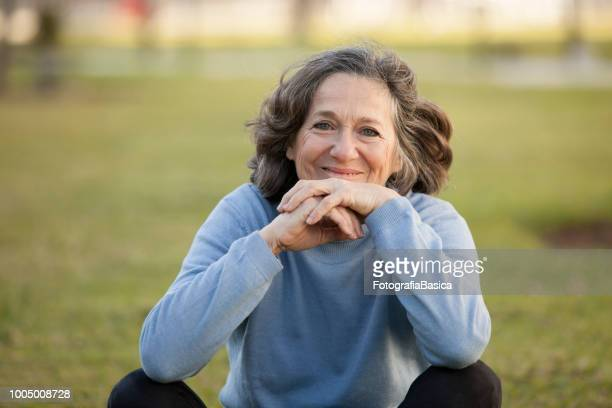 Senior woman enjoying nature