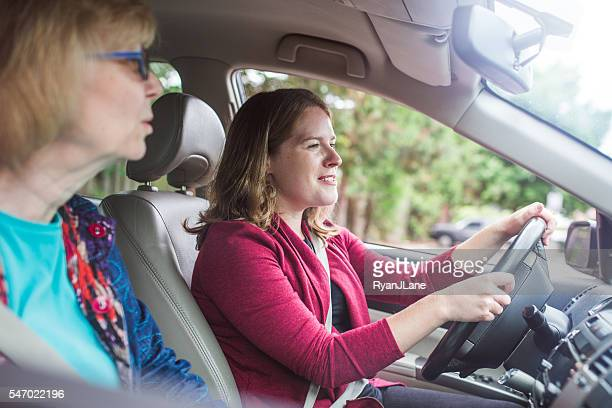 Senior Woman Getting a Ride