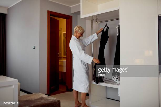 Senior Woman Getting Ready For New Year Party