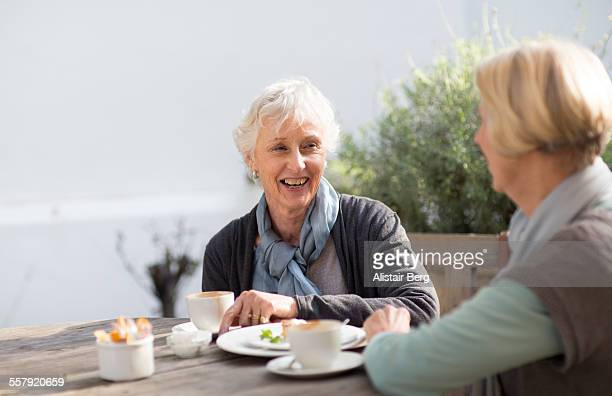 Senior woman having coffee together