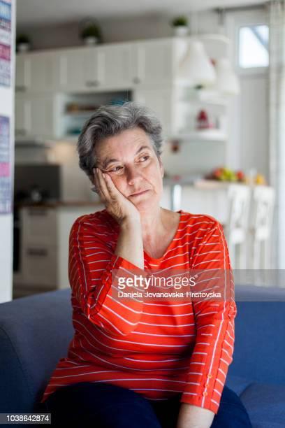 senior woman having toothache