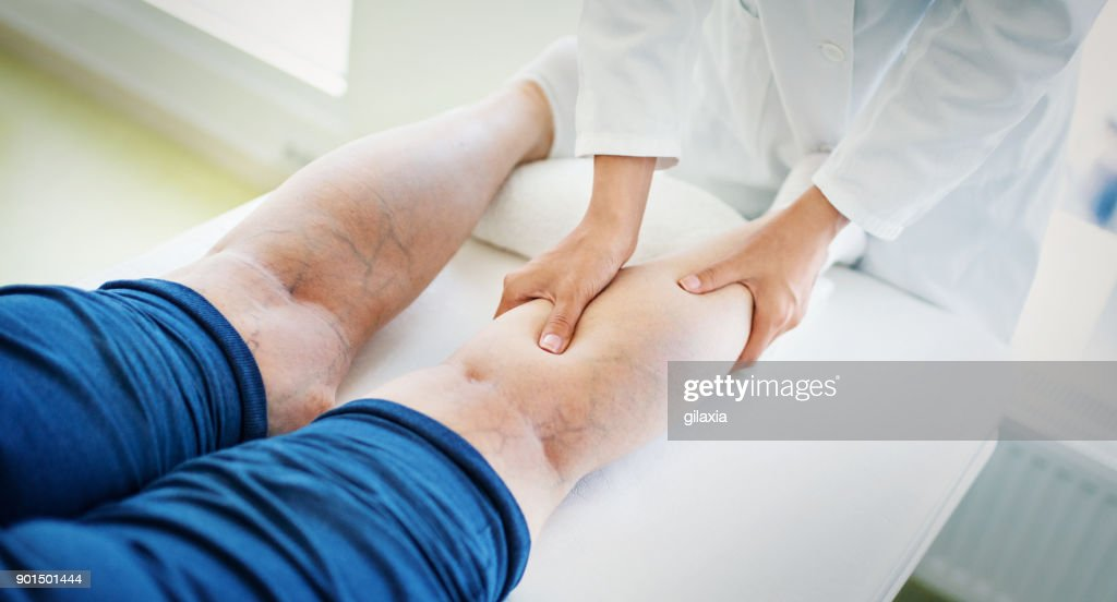 Senior woman in a massage treatment. : Stock Photo