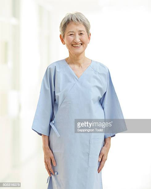 Senior Woman In Examination Gown
