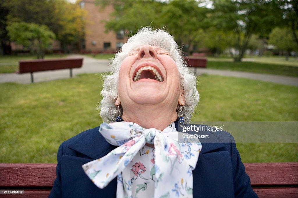 Senior Woman Laughing : Stock Photo