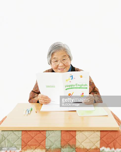 Senior Woman Learning English
