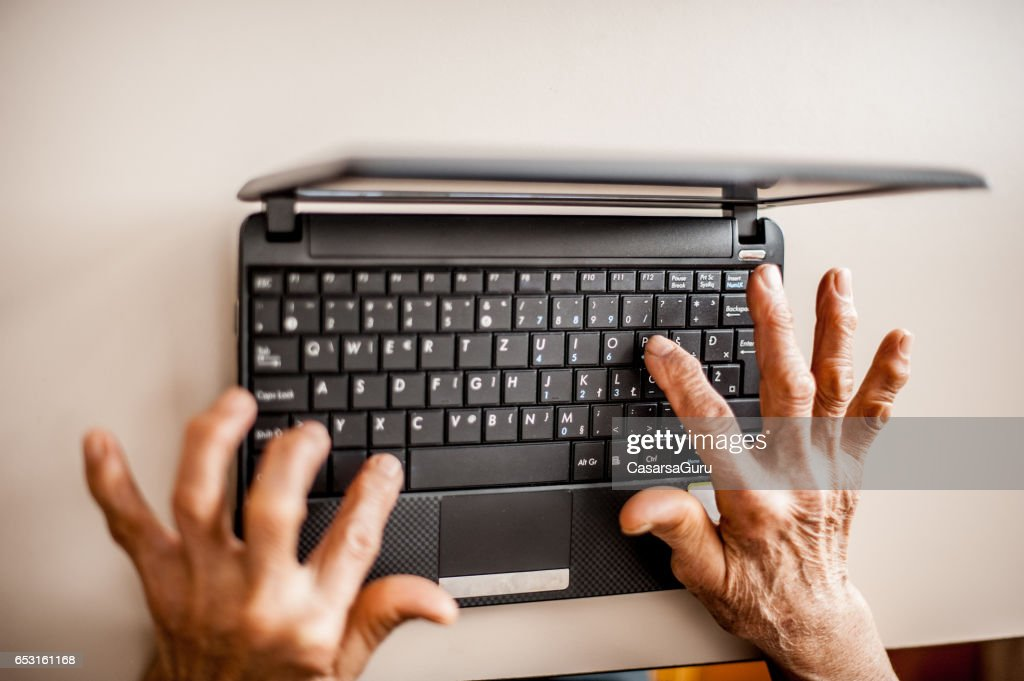 Senior Woman Learning To Use Computer : Foto stock