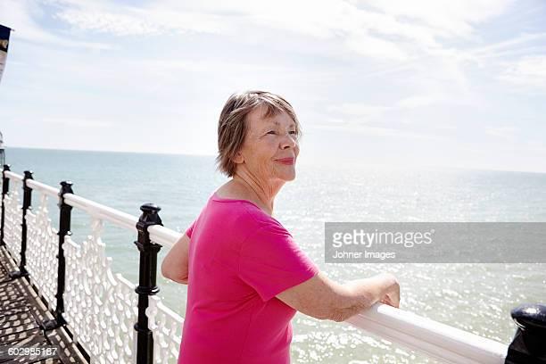 Senior woman looking at sea