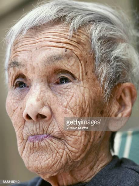 Senior woman looking away