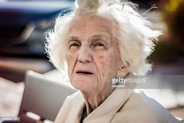 Senior Woman Lost in Thoughts