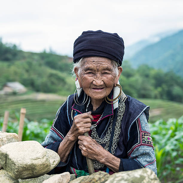 Senior woman of Black Hmong hill tribe