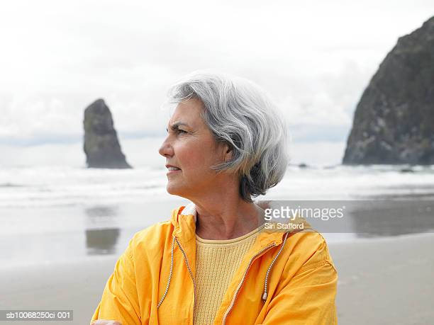 Senior woman on beach