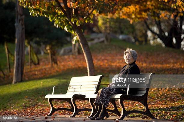 Senior woman on the bench