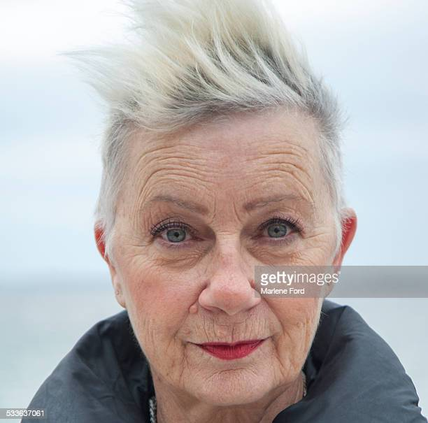 senior woman - mohawk stock pictures, royalty-free photos & images