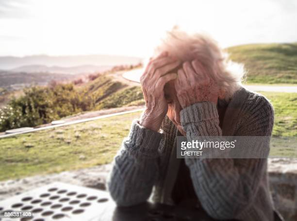 senior woman - dementia stock pictures, royalty-free photos & images