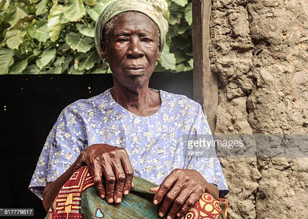 Senior woman portrait - Africa, Ghana