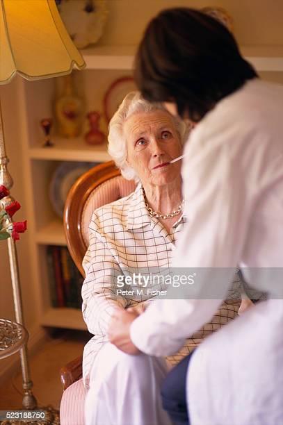 Senior Woman Receiving Medical Exam