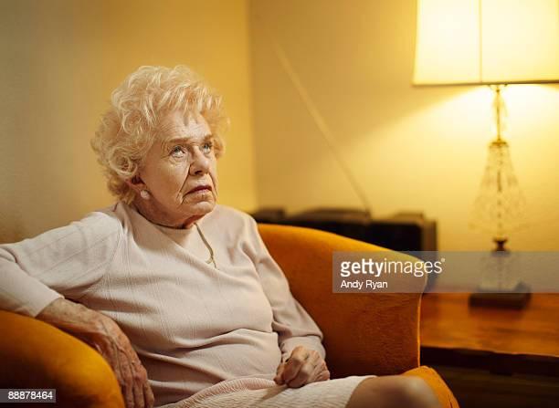 Senior woman rolling hereyes