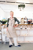 photo senior woman running small business