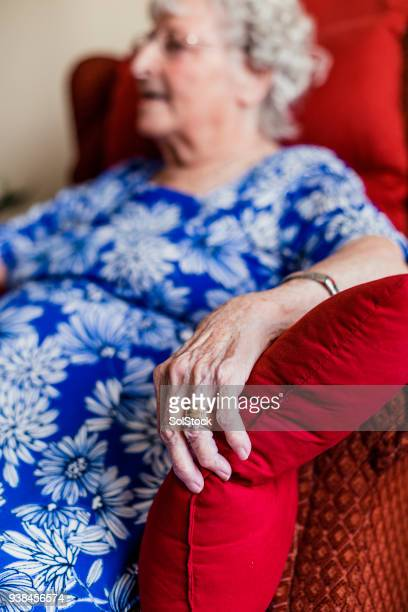 Senior Woman Sitting in a Cozy Armchair