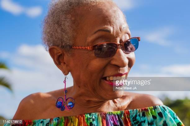 Senior Woman Smiling in the sun