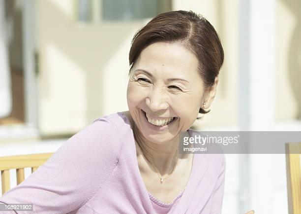 Senior woman smiling