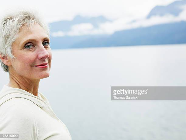 Senior woman smiling, portrait