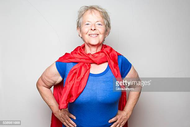 senior woman superhero