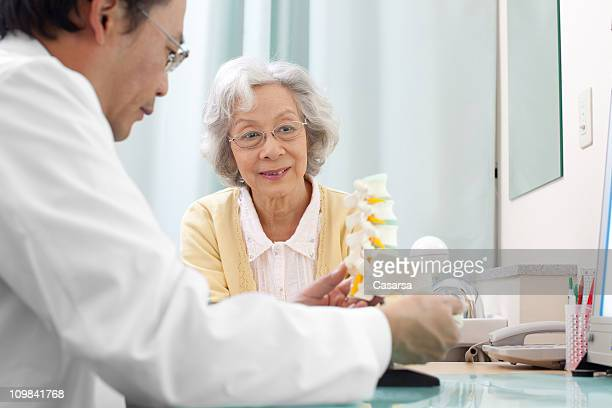 Senior woman visiting the doctor