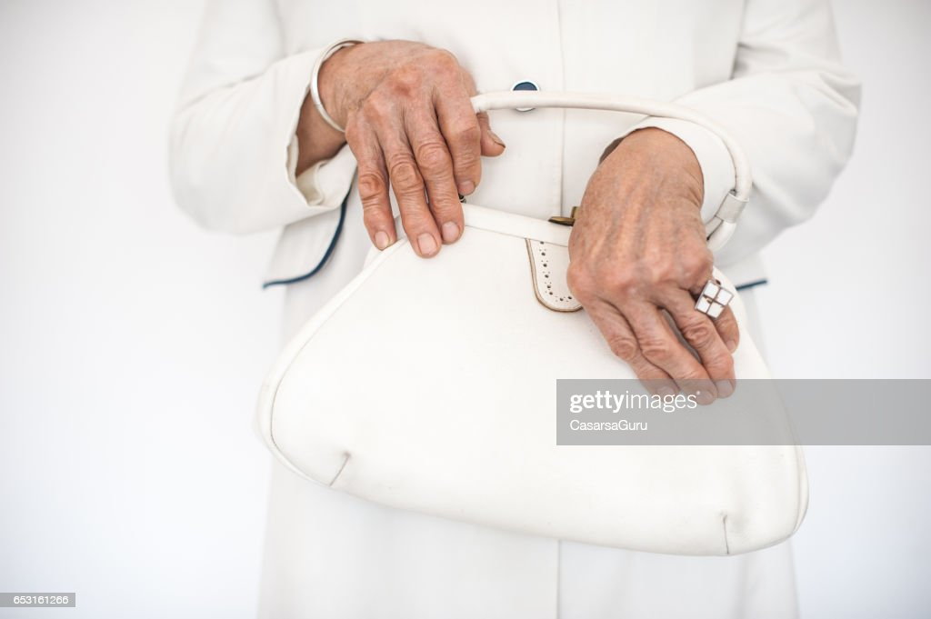 Senior Woman Wearing Stylish Outfit : Foto stock