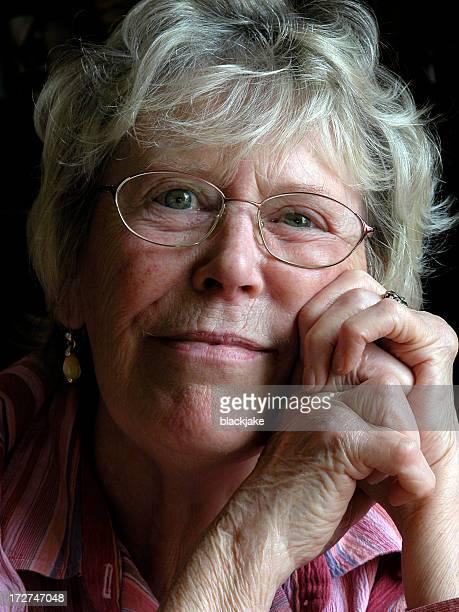Senior woman with arthritis