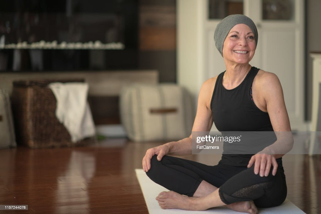 Senior woman with cancer : Stock Photo