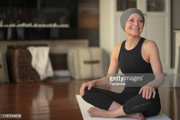 senior woman with cancer - survival stock pictures, royalty-free photos & images