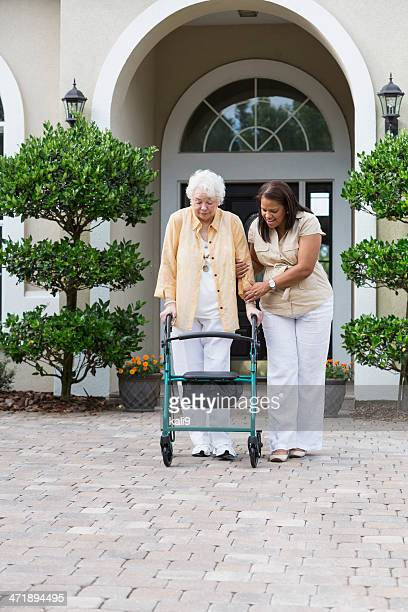 Senior woman with caregiver