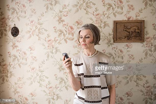 Senior woman with cell phone
