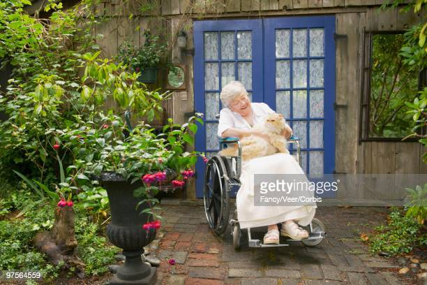 Senior Woman with Her Pet