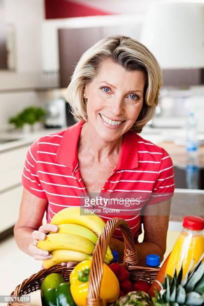 Senior Woman With Shopping Basket