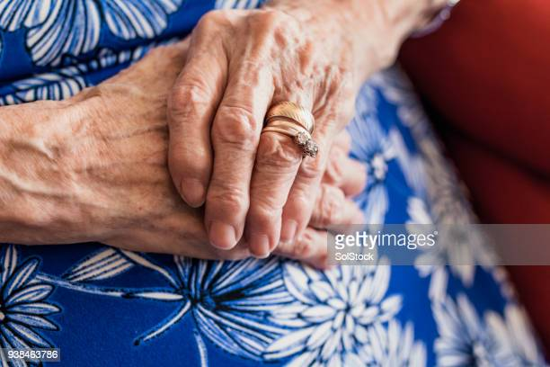 senior woman's hands - married stock pictures, royalty-free photos & images